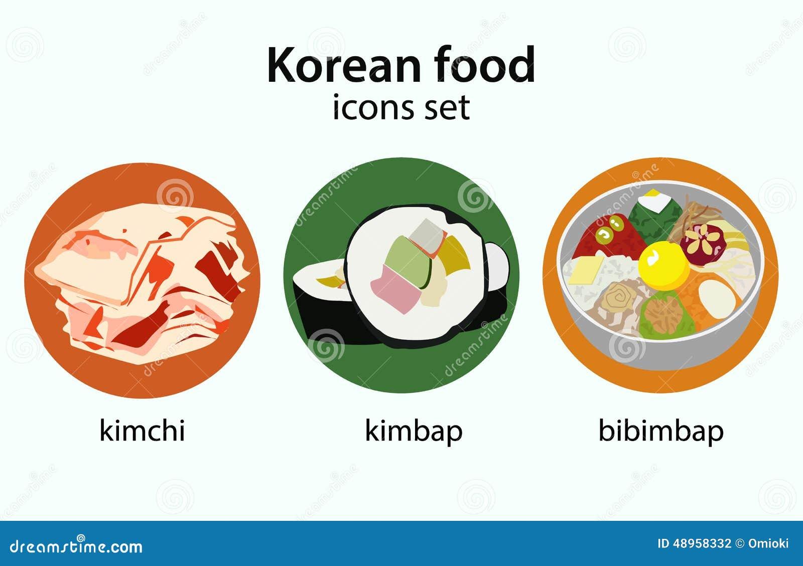 korean food flat design icons set stock vector image sushi victoria bc sushi victoria texas