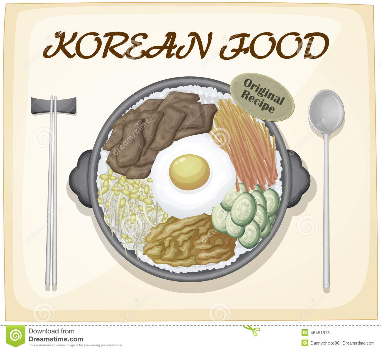 korean food stock vector