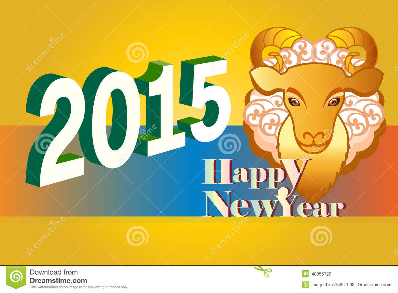 2015 korean happy new year background with animal sysmbol eps10 illustration
