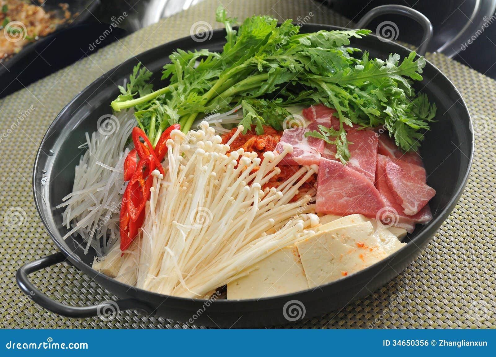 Korean Hot Pot Stock Photo Image Of Food Ethnic Basket