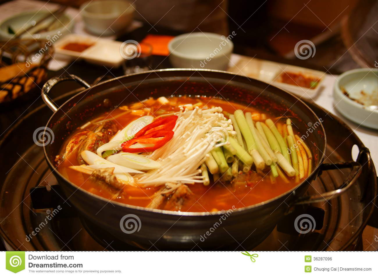 Korean hotpot stock photo image of east celery bowl for Authentic korean cuisine