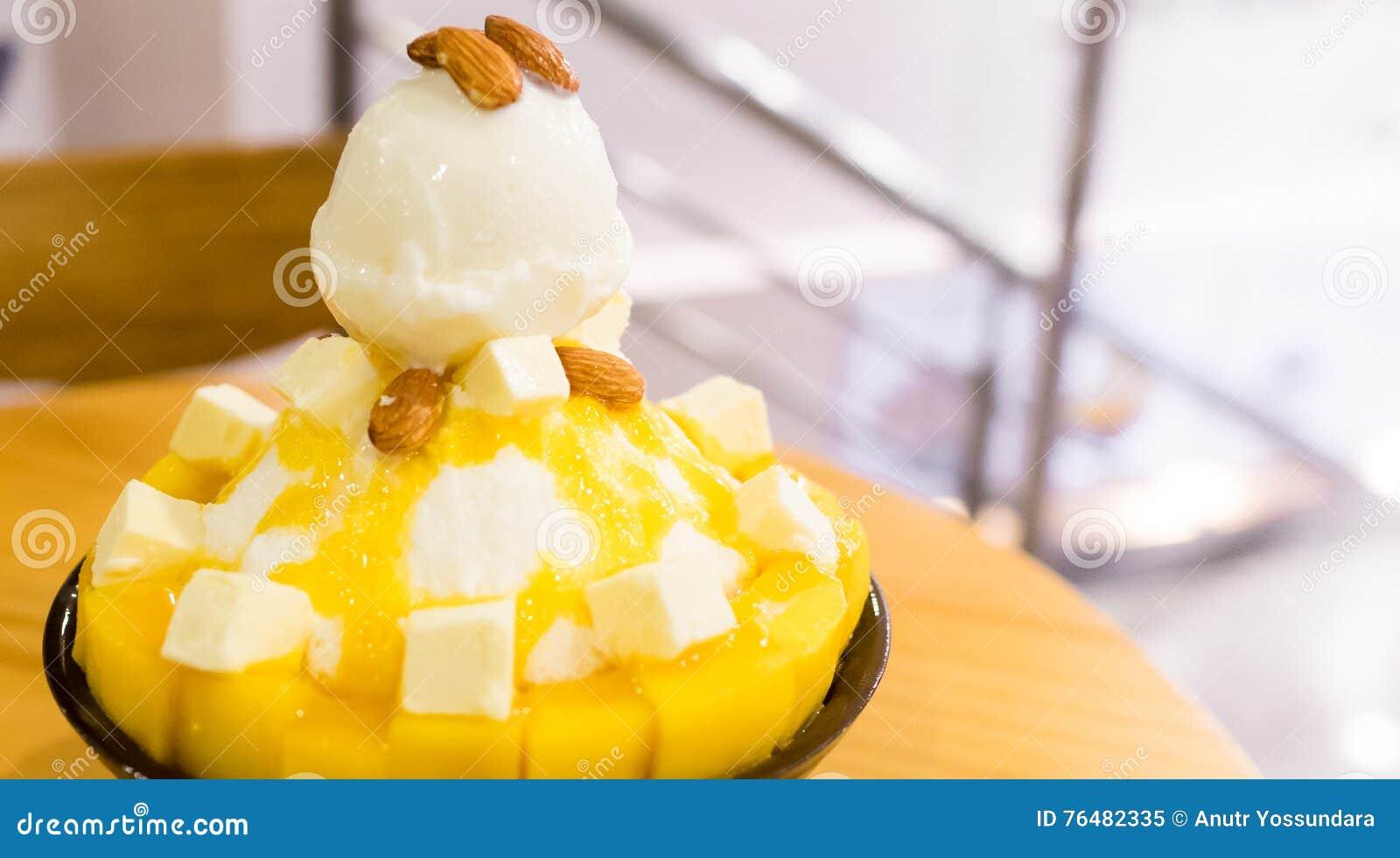 Orange Leaf Ice Cream Cake