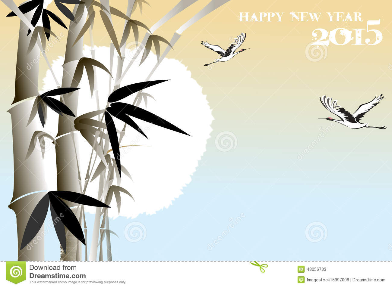 Bamboo birds stock illustrations 216 bamboo birds stock korean new year greeting card with bamboo eps10 illustration oriental new year greeting card m4hsunfo Images