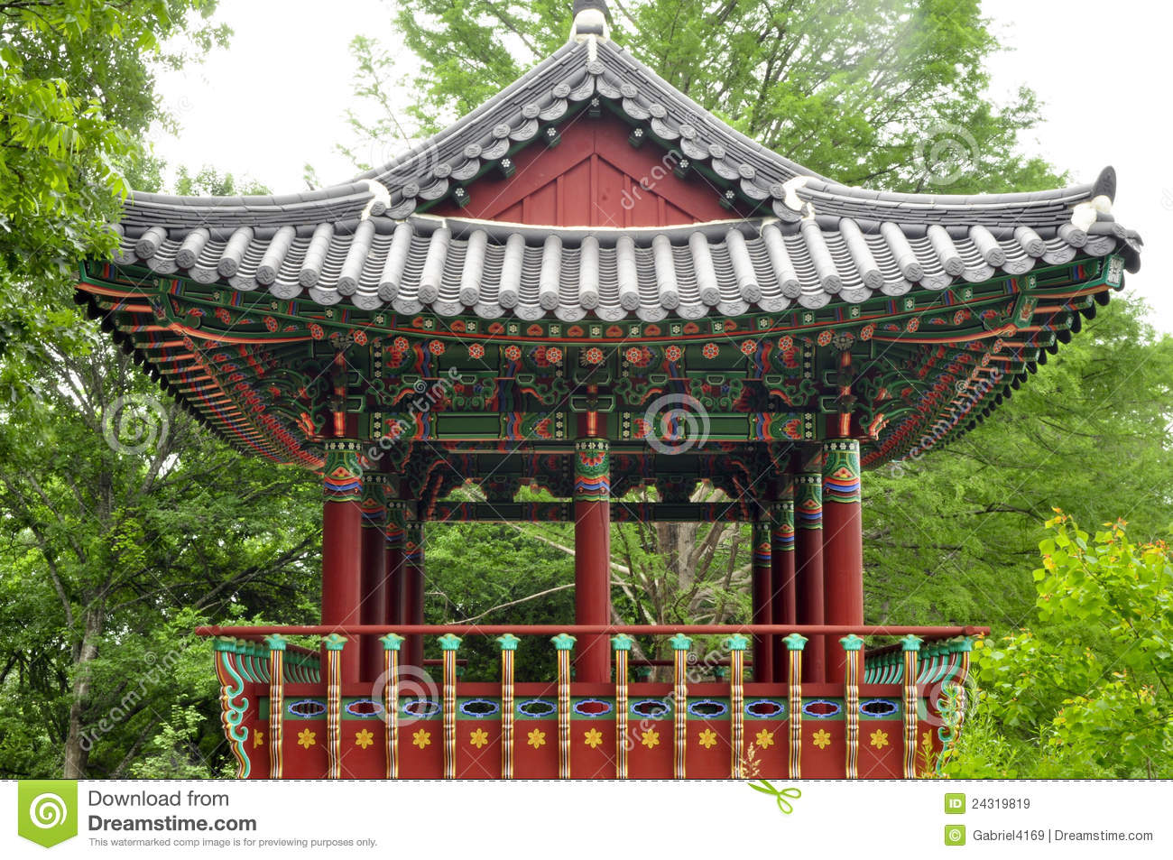 Korean Pagoda Stock Image Image Of Architecture Pond