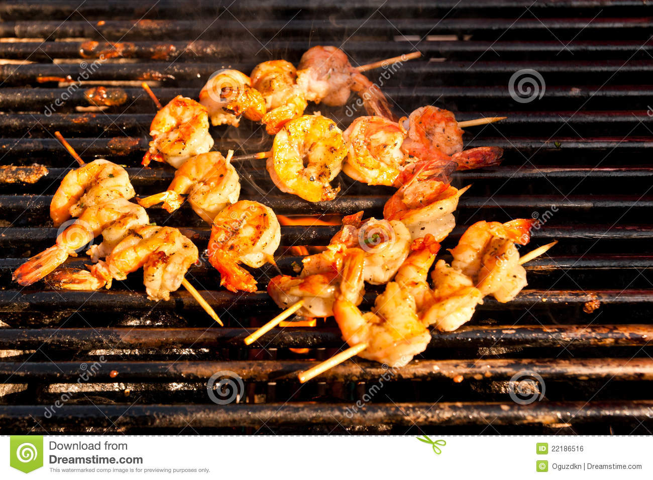 Korean Style Jumbo Shrimp Barbeque Royalty Free Stock ...