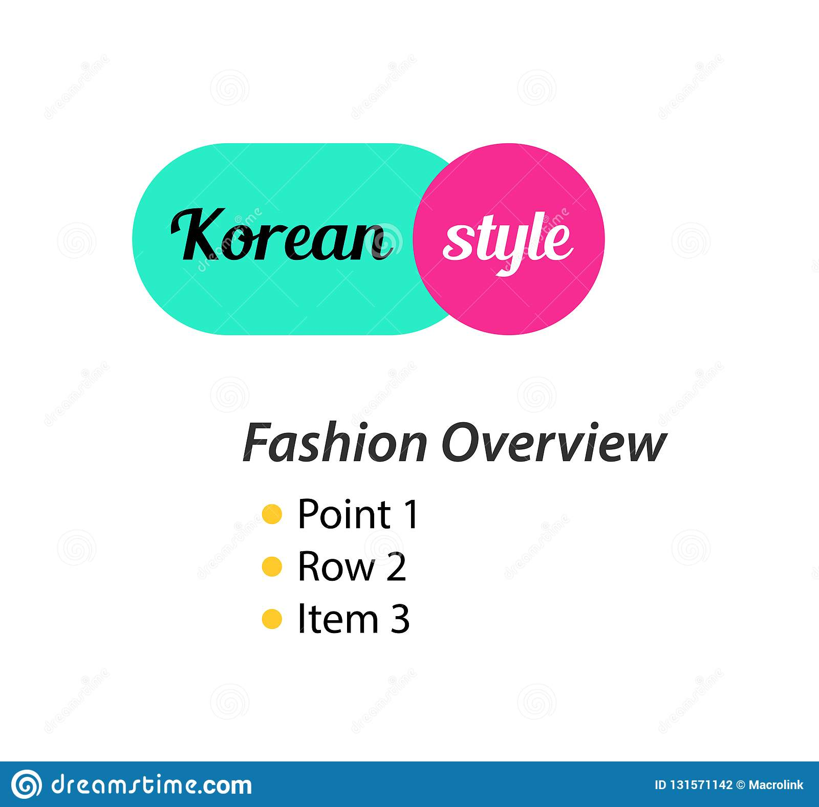 Korean Style, Logo For Fashion Store Of Clothing And Shoes