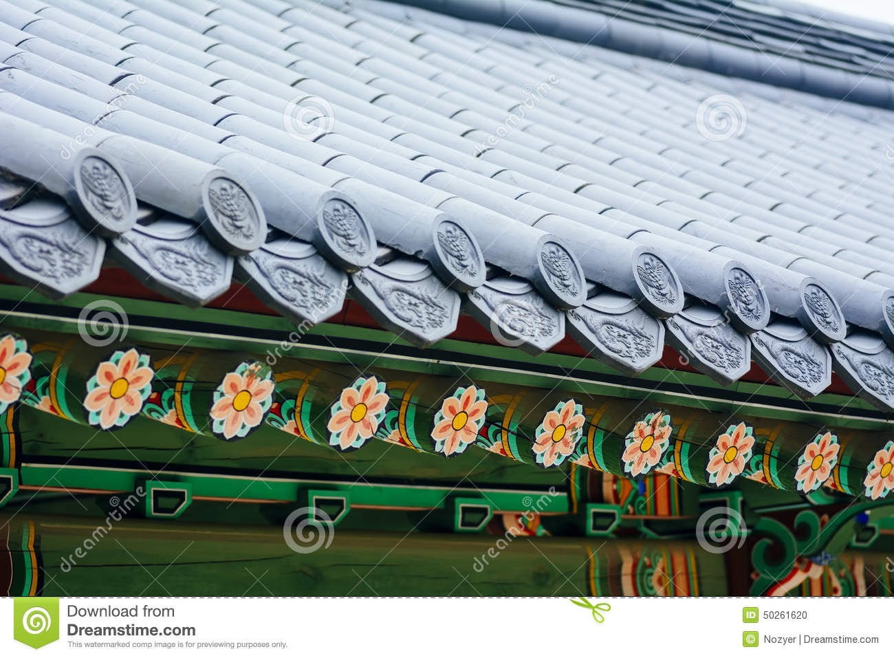 Korean Traditional Roof Ornament (Changdeokgung Palace, Seoul)