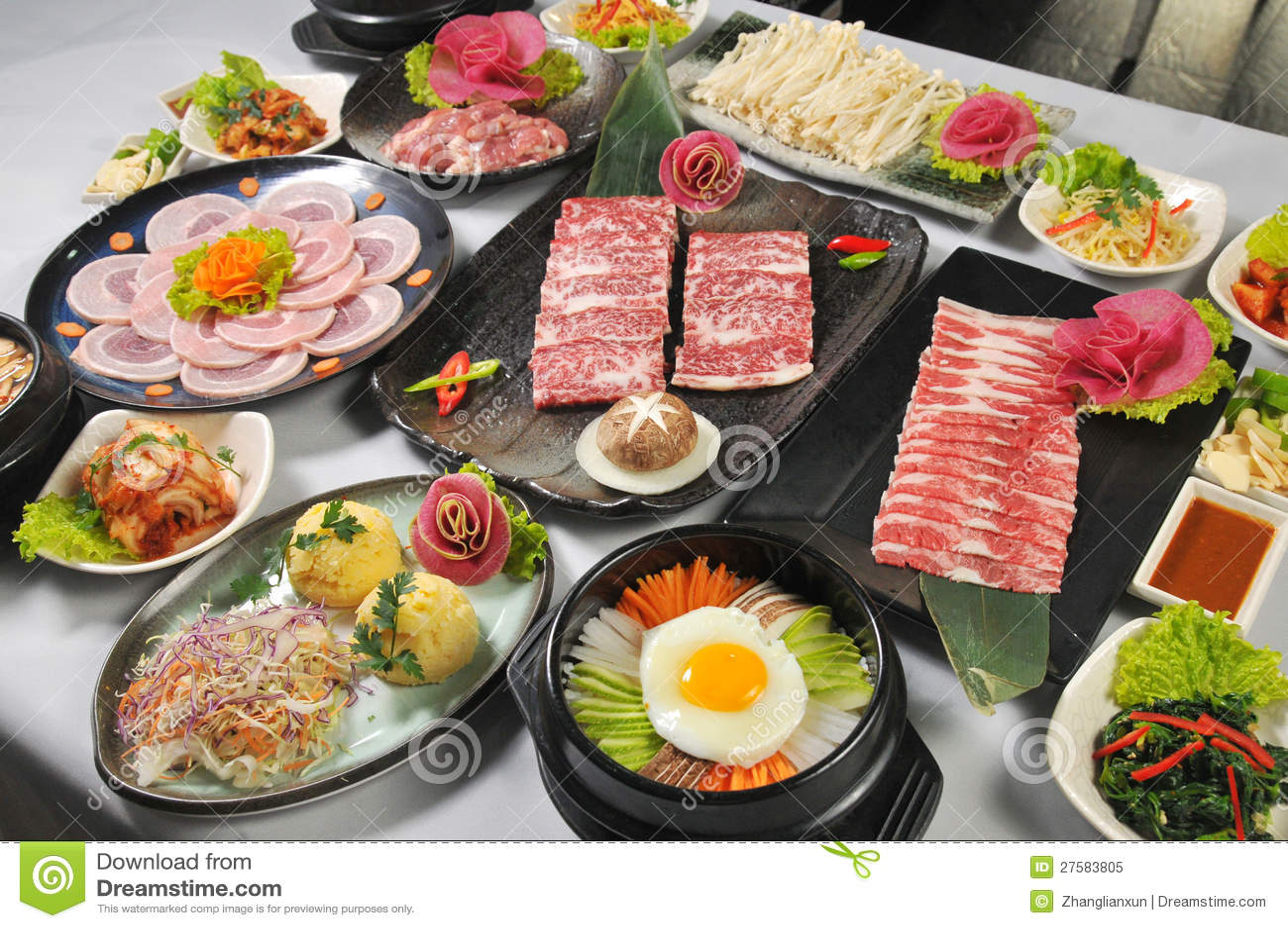 koreanische küche lizenzfreies stockfoto - bild: 27583805