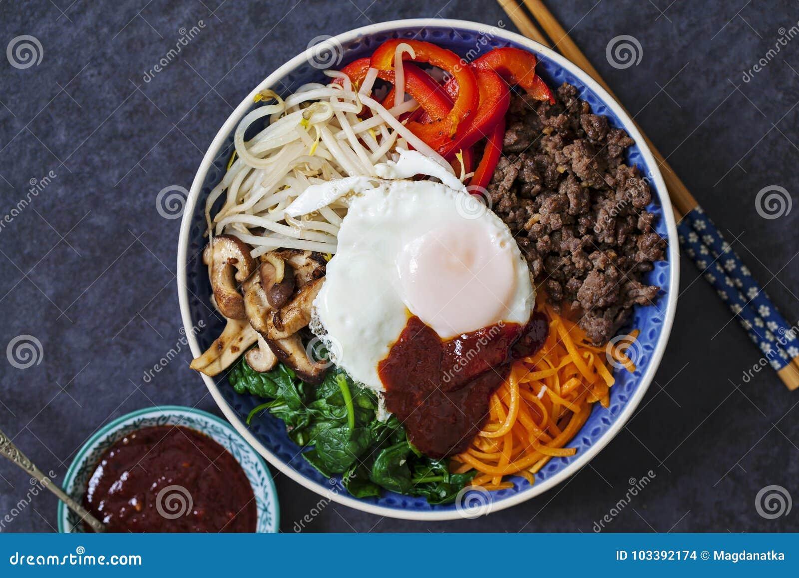 Koreansk Bibimbap