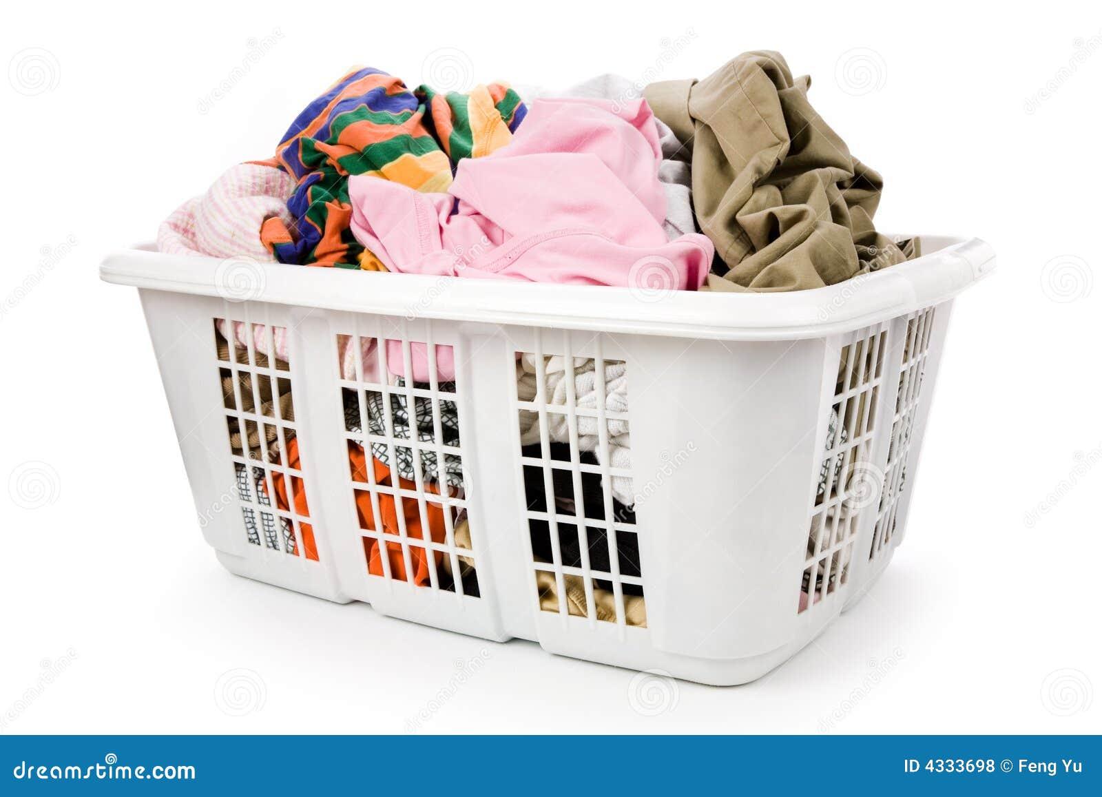 Korg som clothing det smutsiga tvätterit