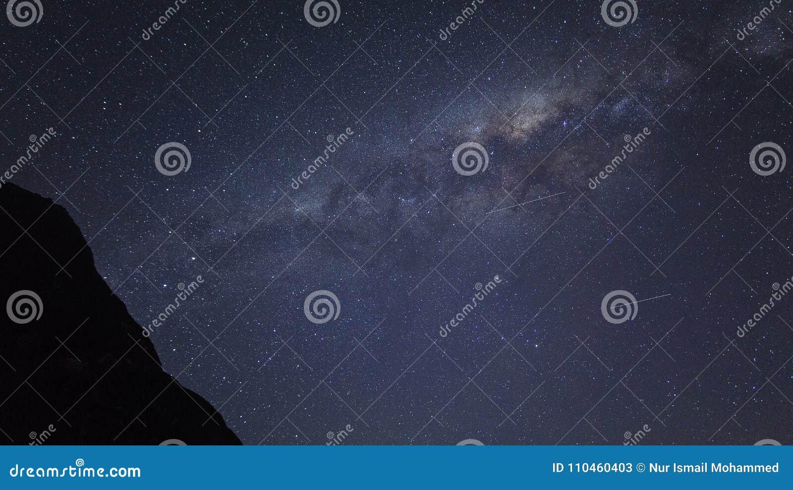 Korn eller för galaxstjärnor för oväsen milkyway sikt för kosmosbakgrund