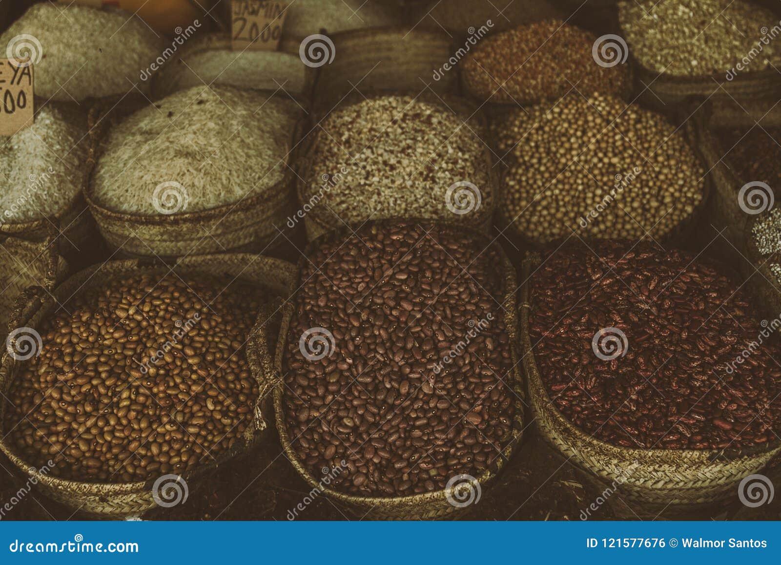 Korn i en lokal marknad