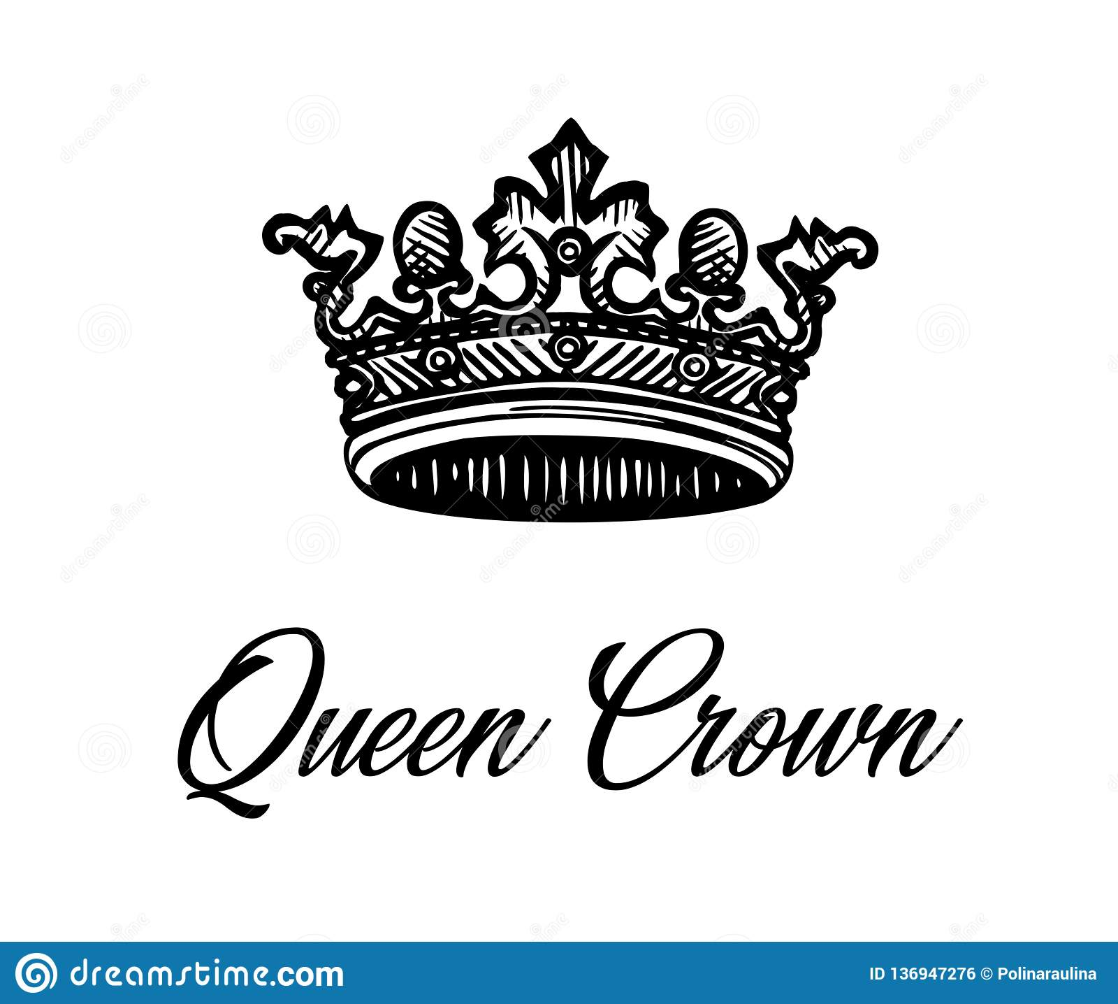 Korona tła izolatów królowa white