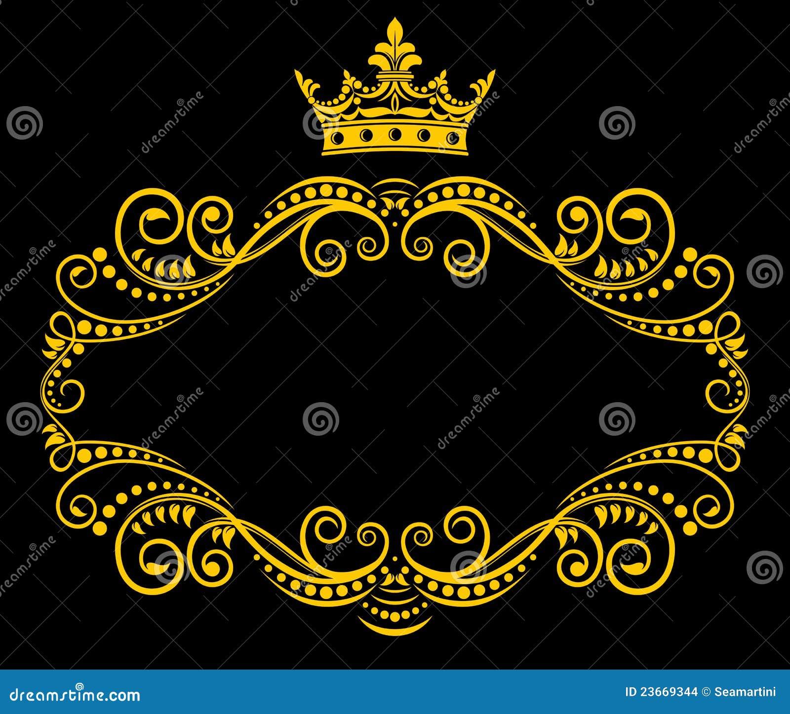 Korony królewski ramowy retro