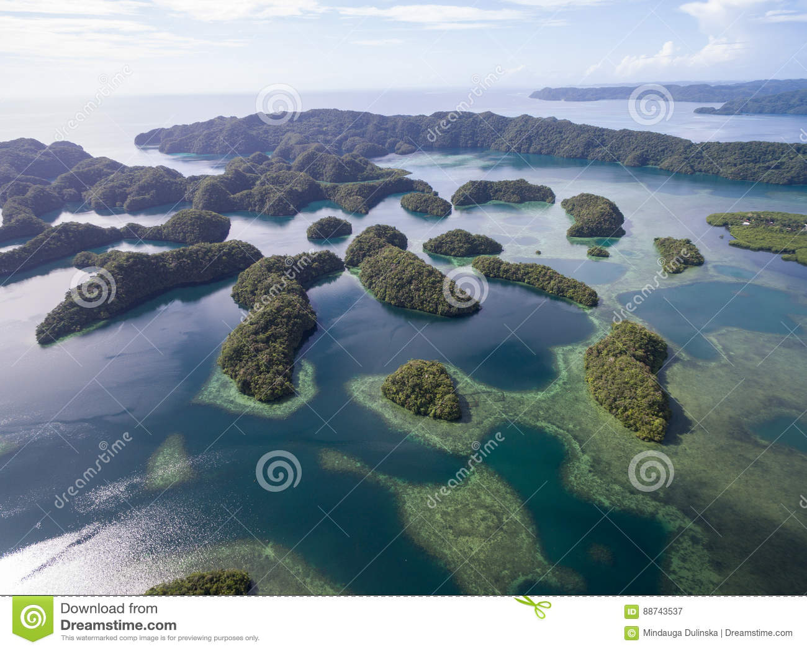 Kororeiland in Palau Archipel, een deel van het Gebied van Micronesië