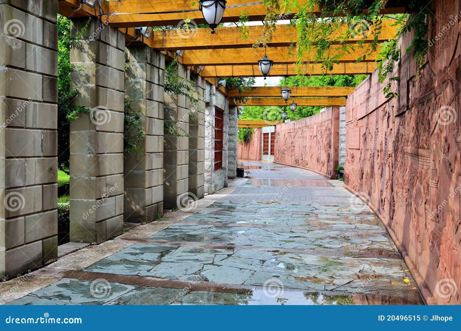 Korridor i park