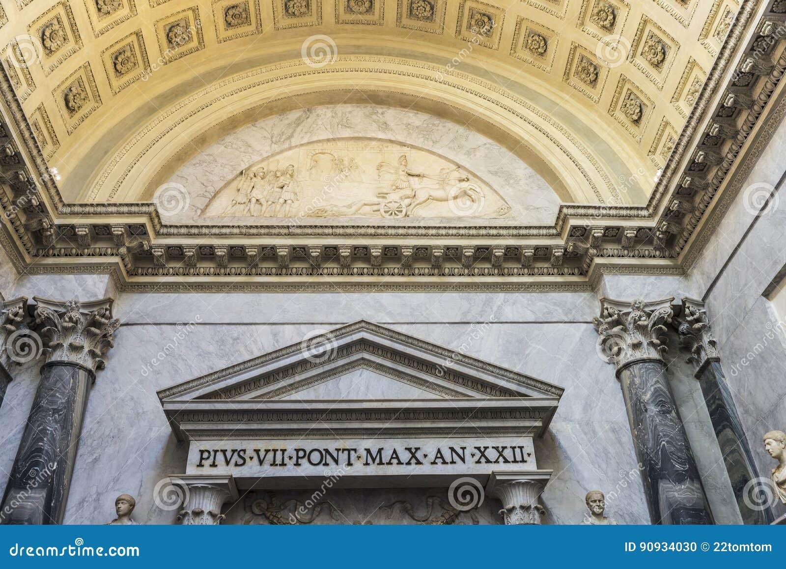 Korridor på Vaticanenmuseet i Vaticanet City, Vaticanen