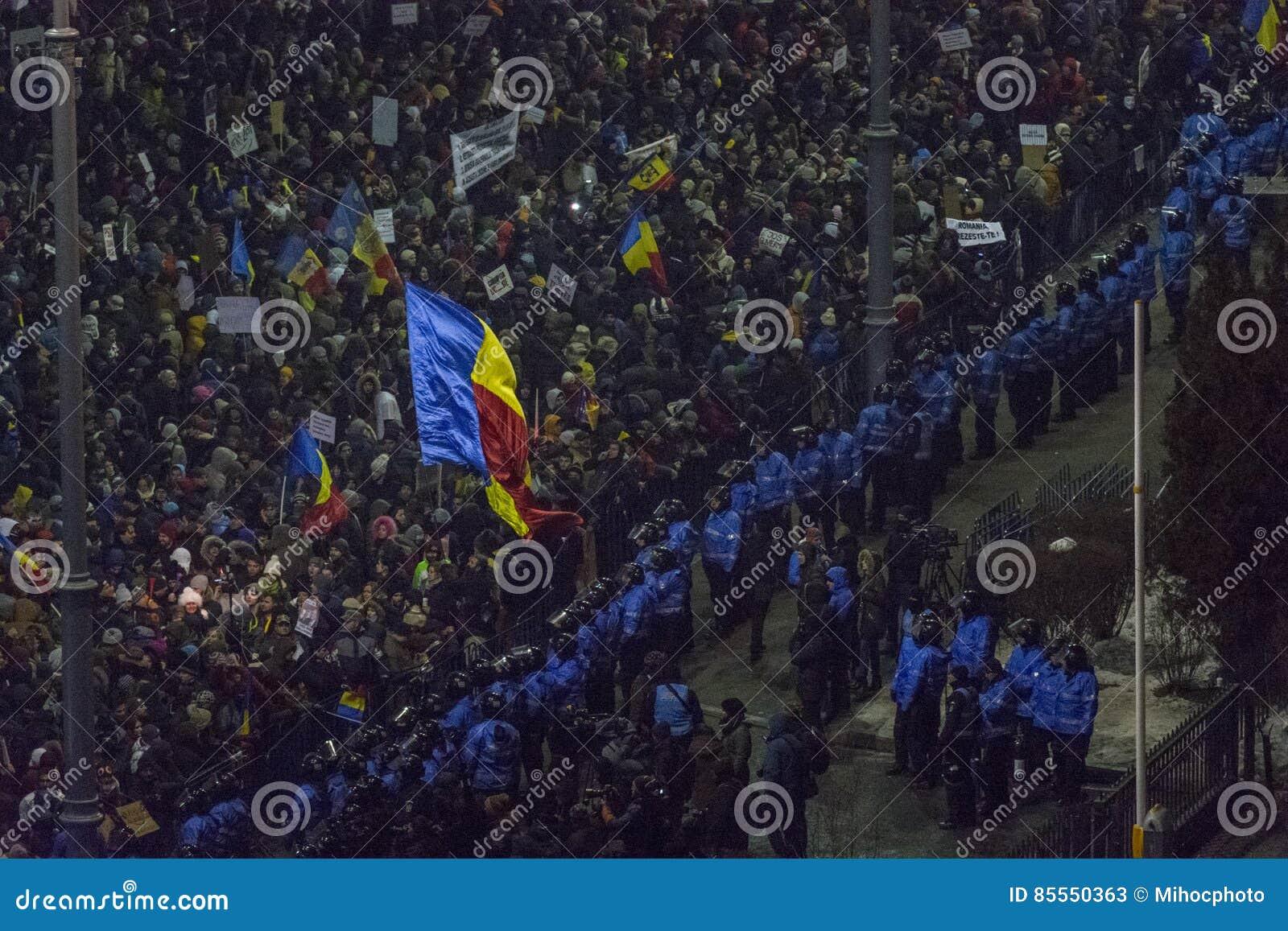 Korruptionsbekämpfungs- Proteste in Bukarest