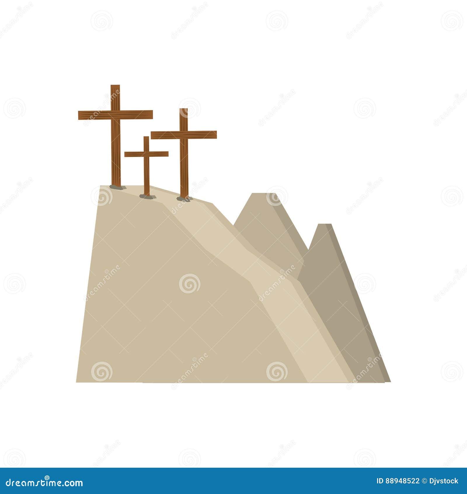 Kors för calvarykulle tre