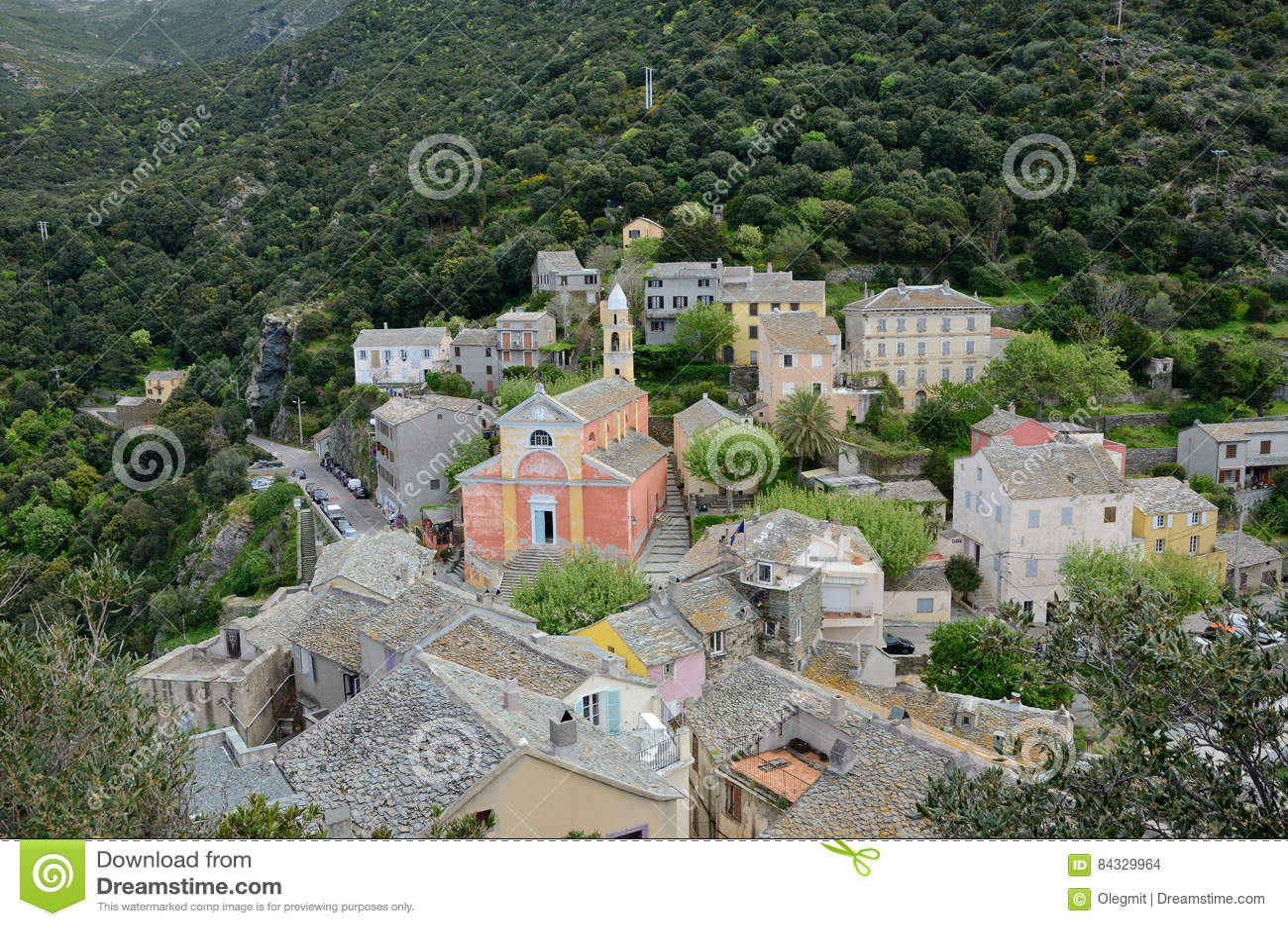 Korsikansk bergby Nonza