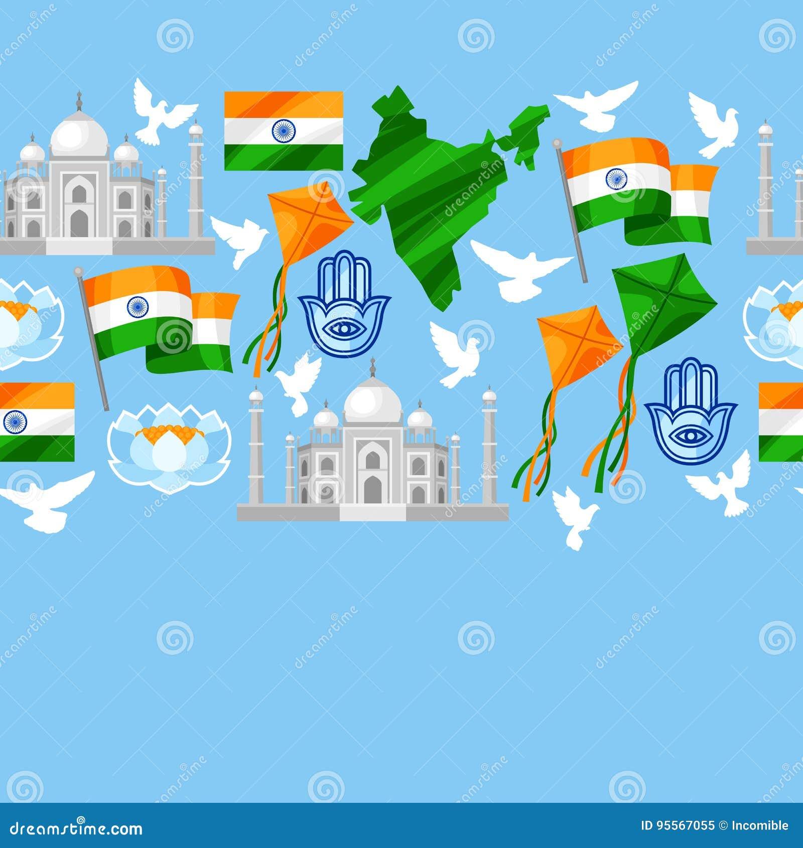 Kort för Indien självständighetsdagenhälsning Th för beröm 15 av Augusti