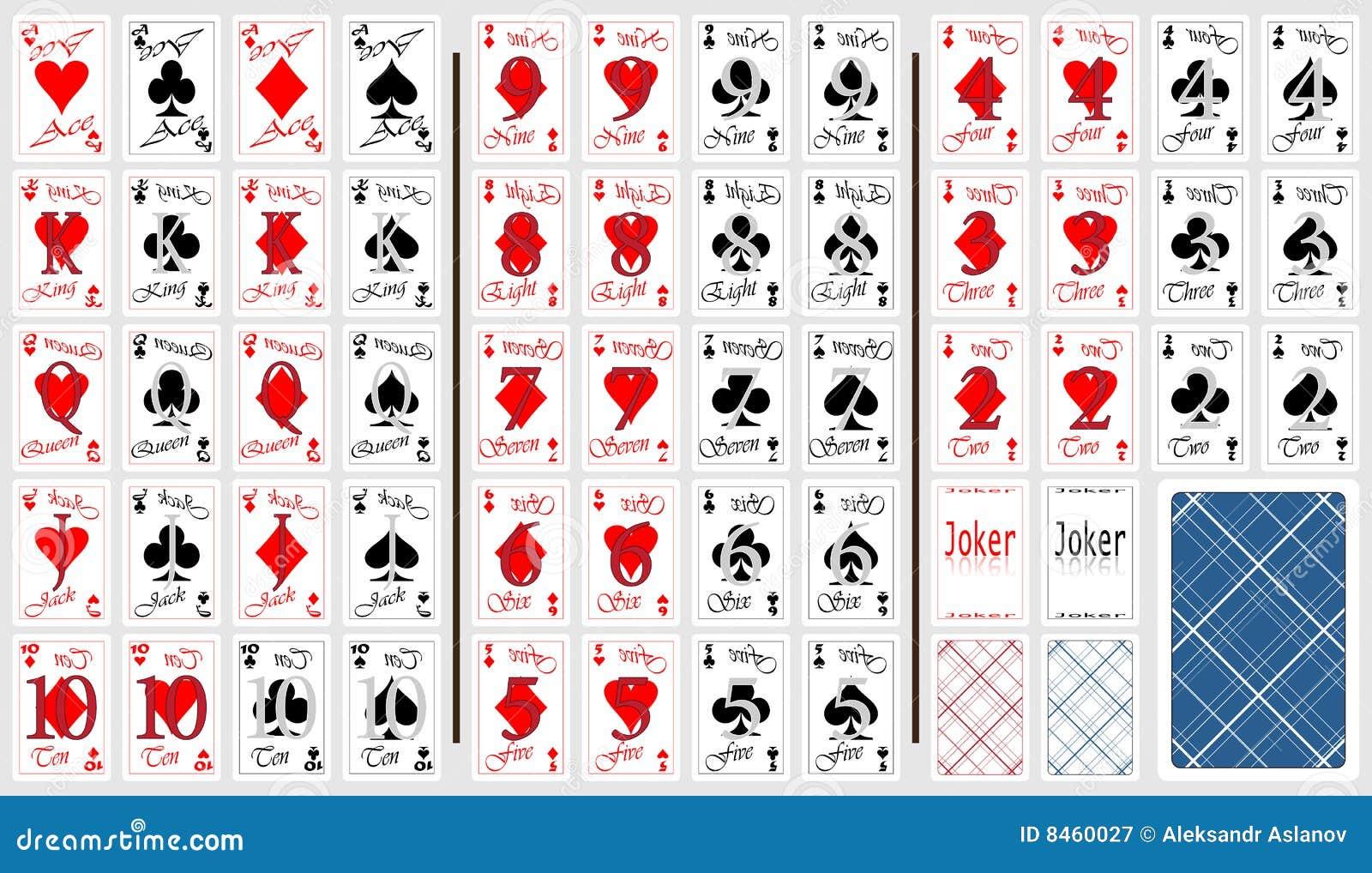 Kort som leker seten