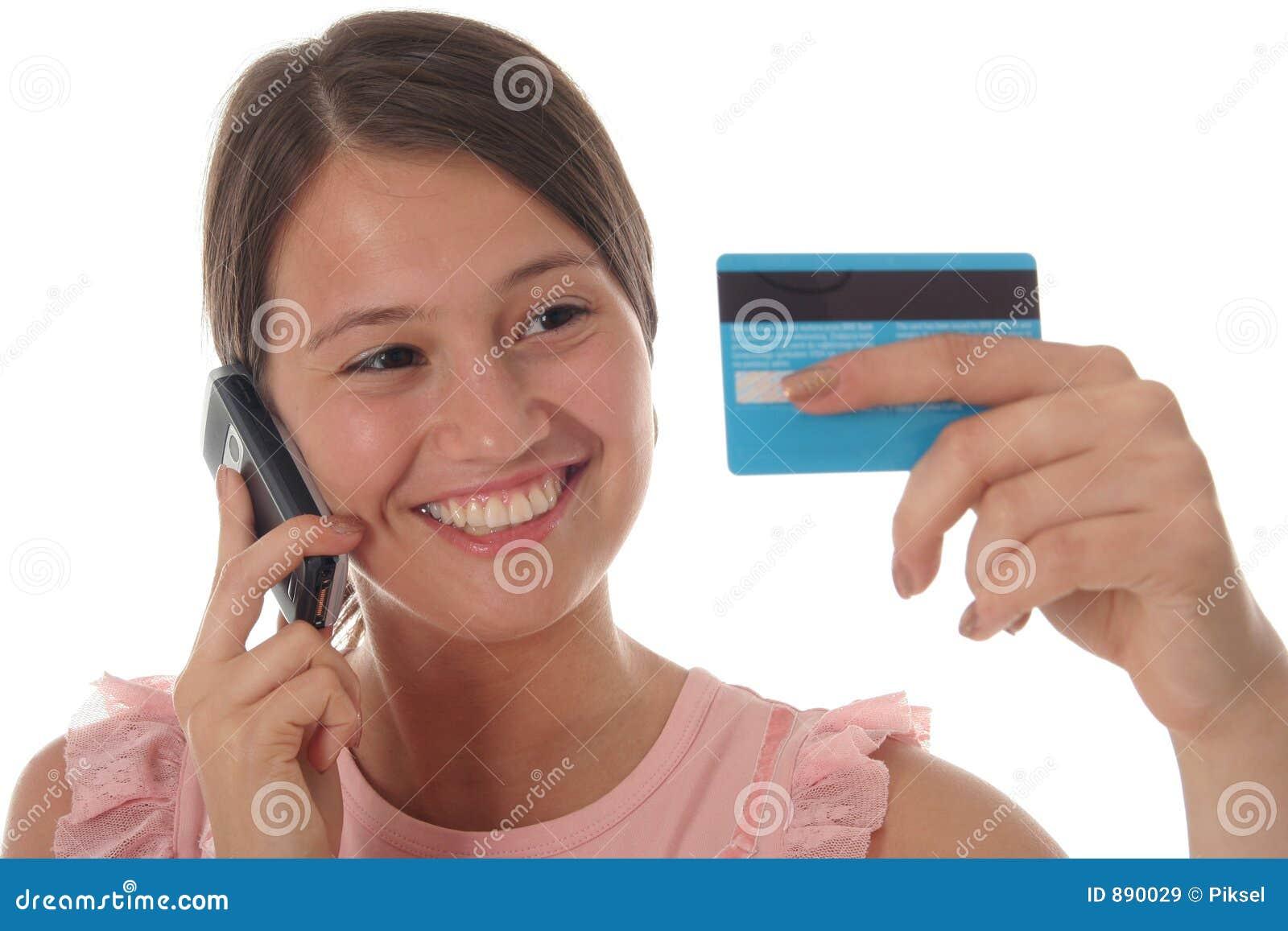 Kortkrediteringsflicka