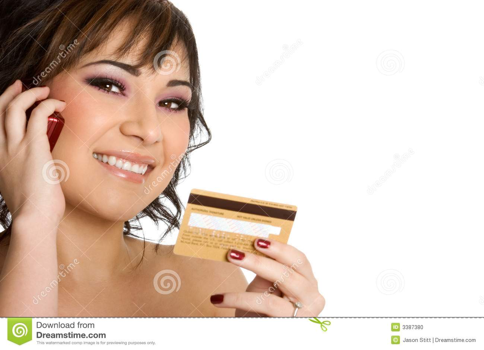 Kortkrediteringskvinna