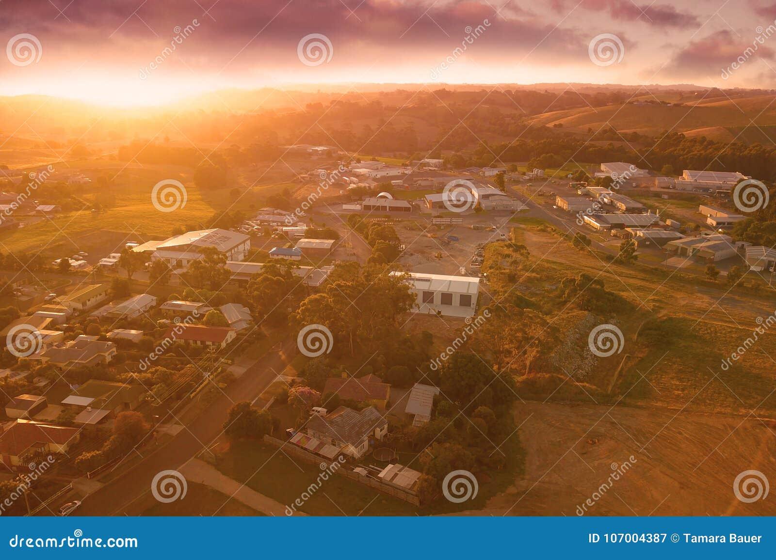 Korumburra township in South Gippsland