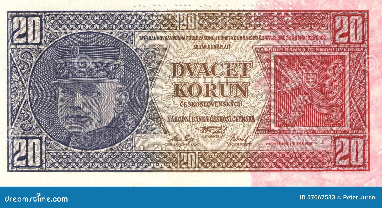 20 Korun - Bankbiljet