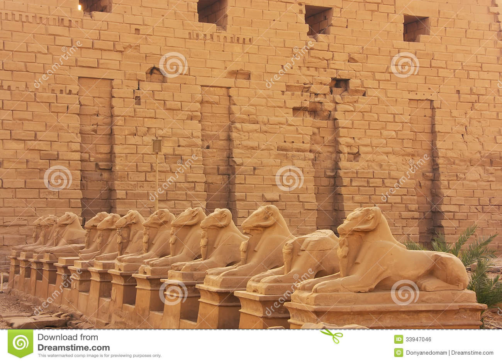 Korytarz Sphynxes, Karnak świątynny kompleks, Luxor