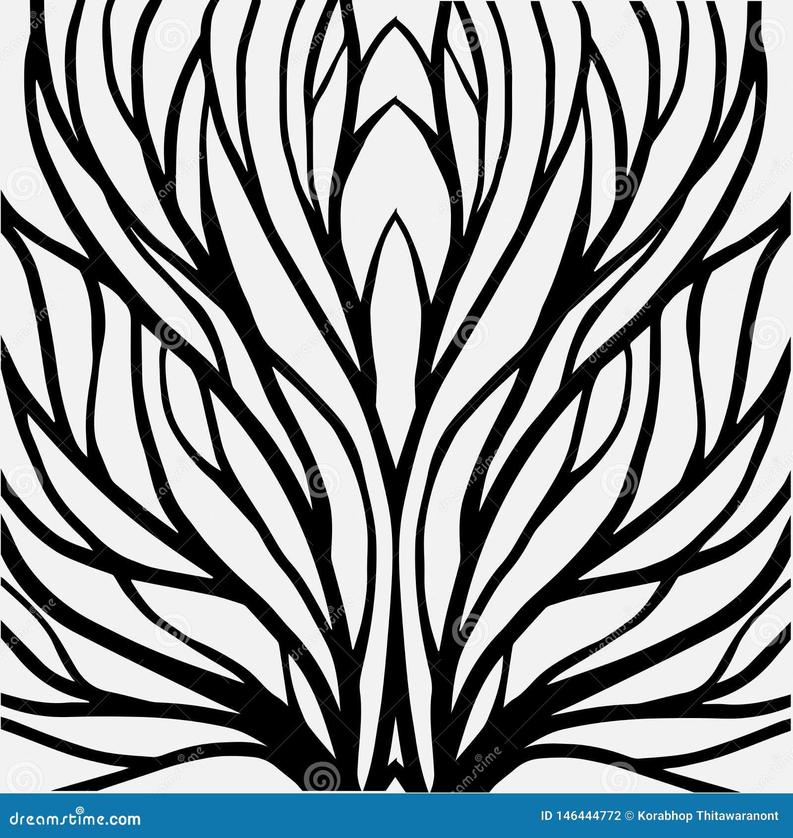 Korzeniowa deseniowa ilustracja dla tkaniny i druku