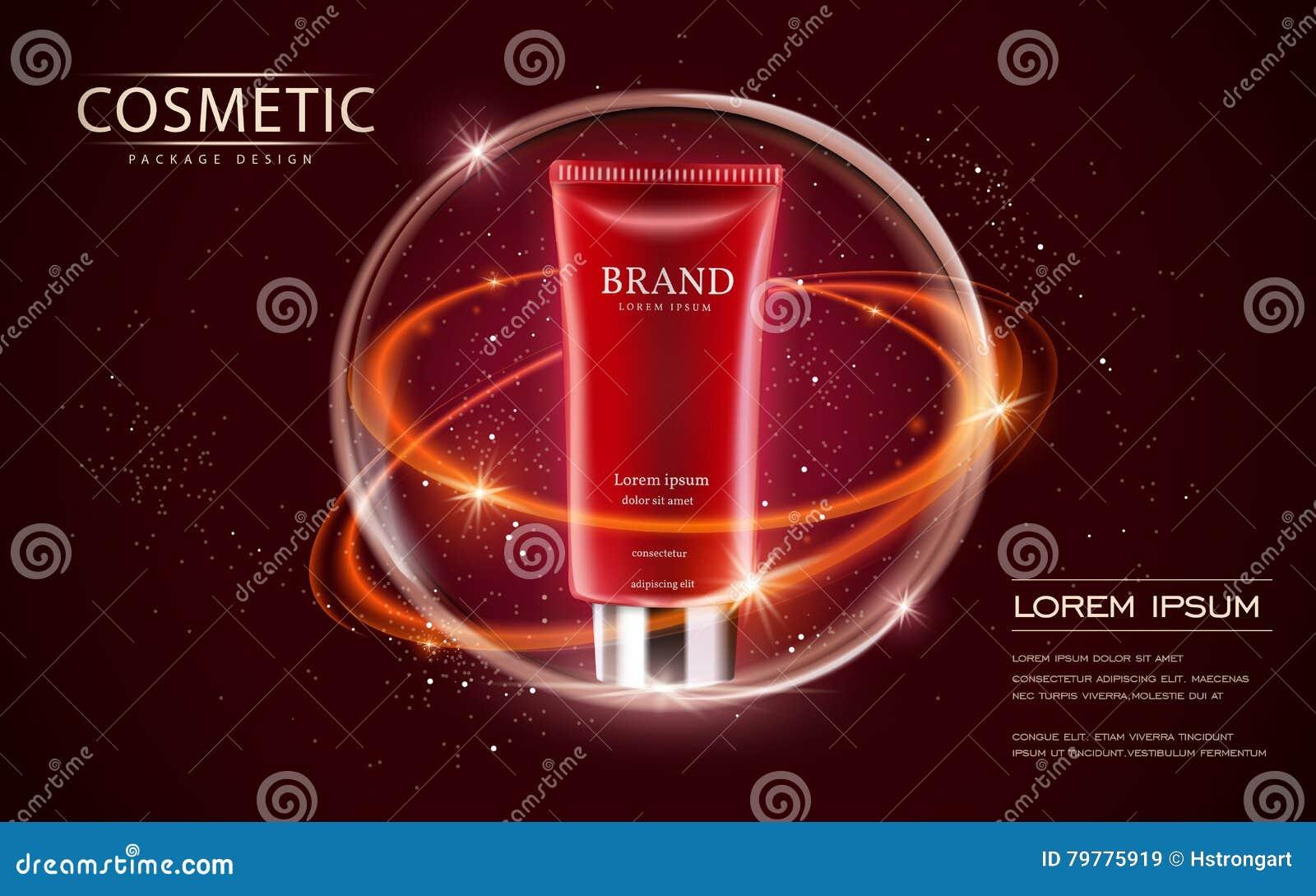 Kosmetisch advertentiesmalplaatje