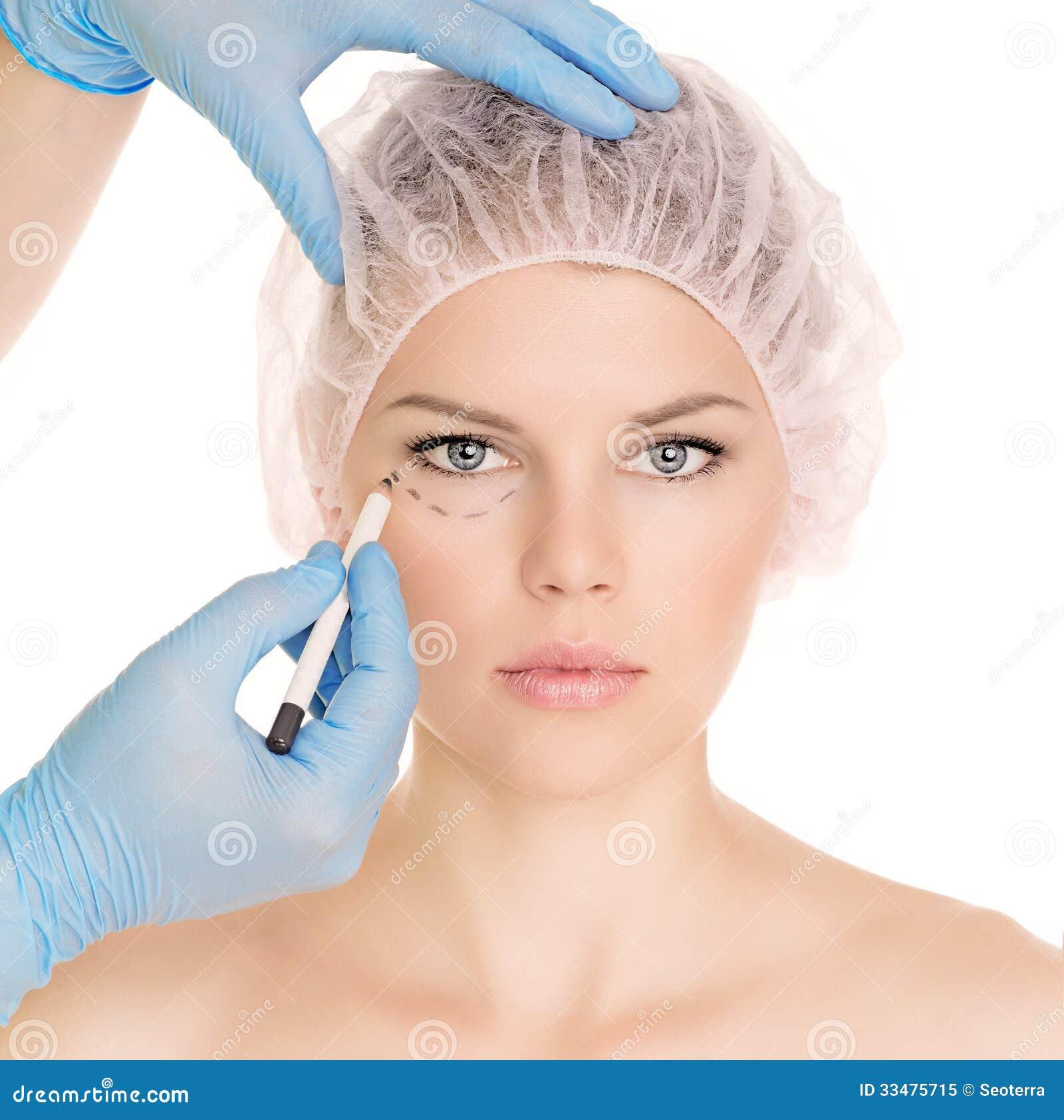 Kosmetische chirurgievrouw