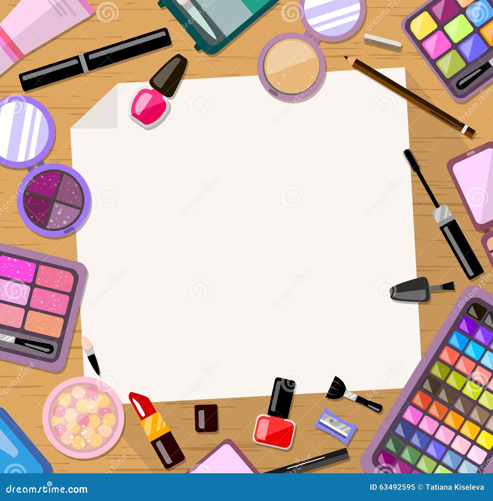 Kosmetische kaderachtergrond Helder vlak product Kaart, uitnodiging, bannermalplaatje