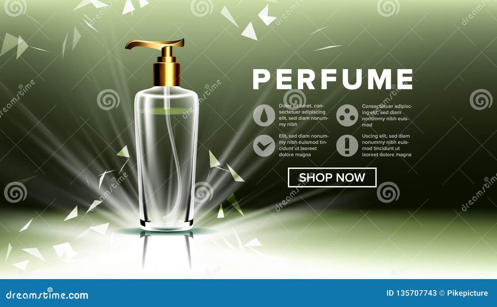 Kosmetischer Glasanzeigen-Vektor Luxus, Mode Duft, Kollagen Flasche transparentes realistisches Modell 3D