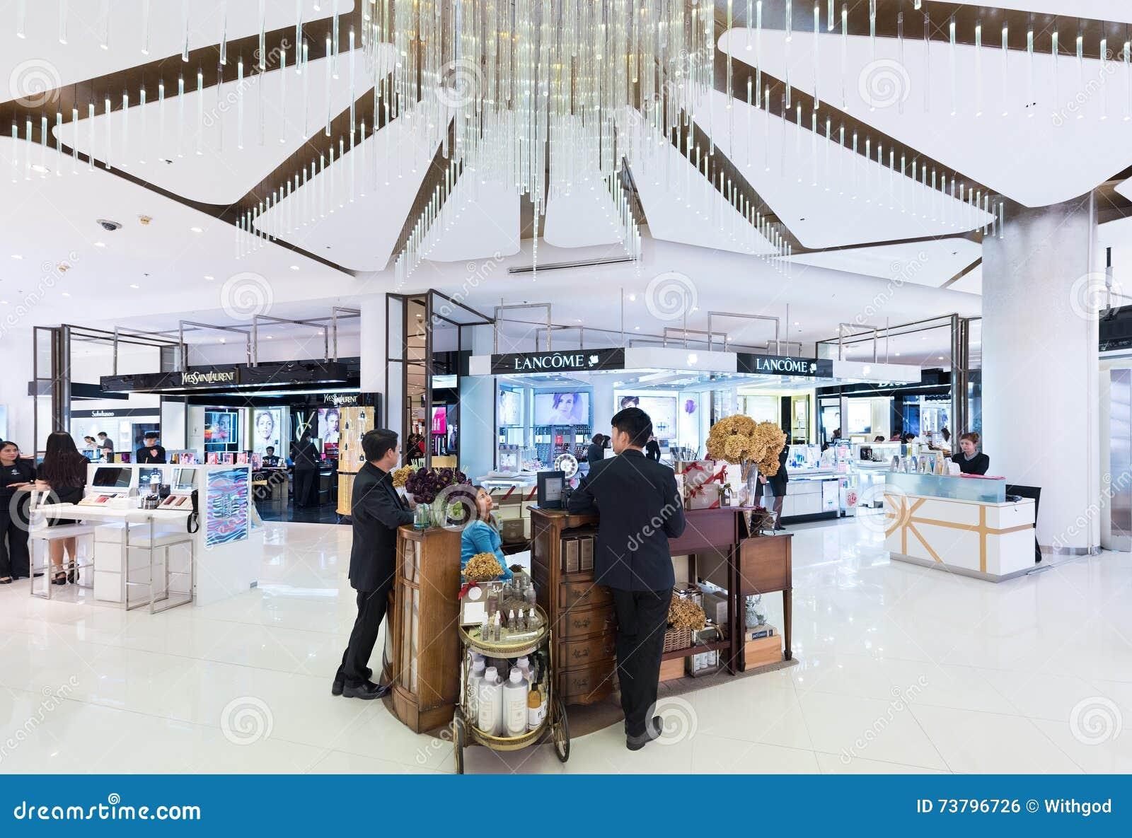 Kosmetyków butiki w Siam Paragon centrum handlowym, Bangkok