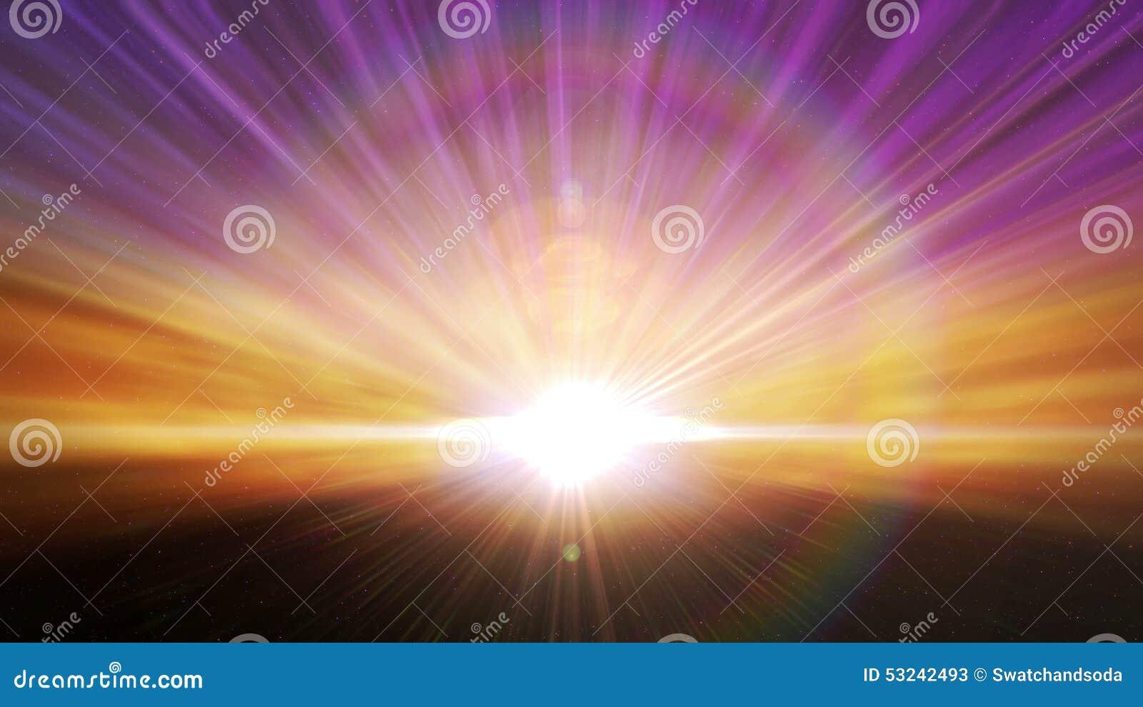 Kosmische Horizont-Licht-Explosions-Schleife Stock Video - Video von ...
