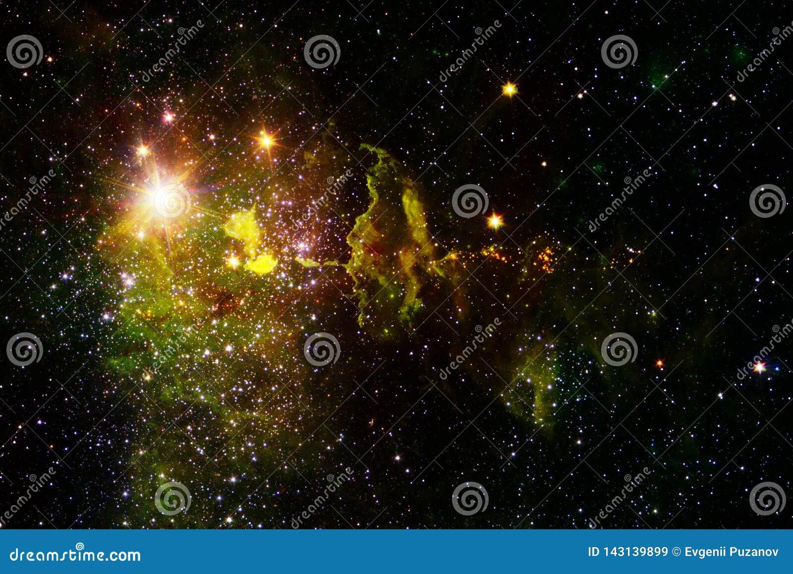 Kosmische Landschaft, ehrf?rchtige Zukunftsromantapete mit endlosem Weltraum