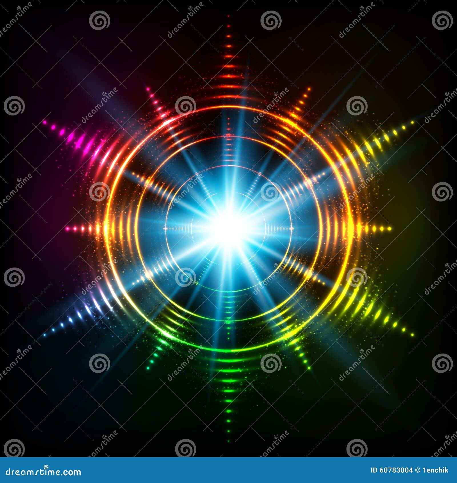 Kosmischer Stern Des Abstrakten Regenbogenneonspiralen-Vektors ...