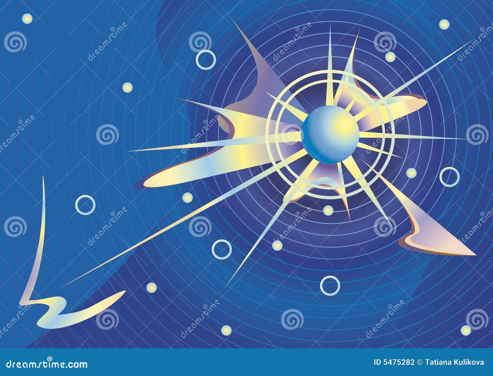 Kosmisk vektor för bakgrund