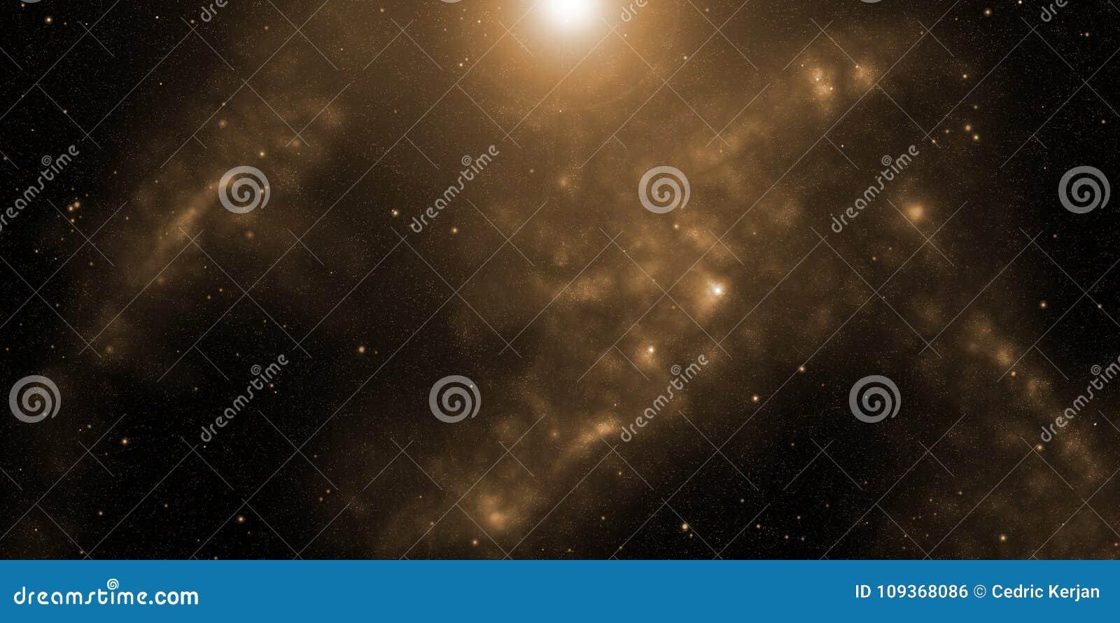 Kosmos, gwiazdy i nebulas, Fantastyka naukowa tło