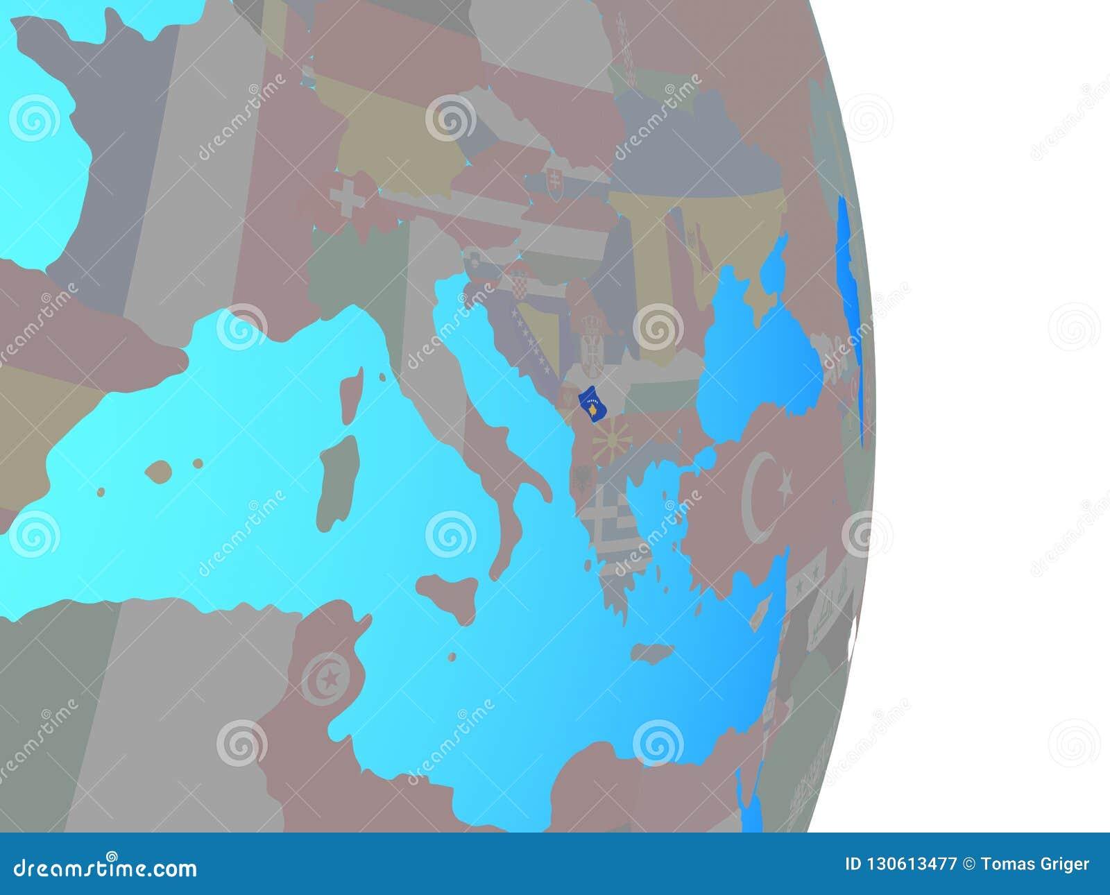 Kosovo with flag on globe stock illustration. Illustration of symbol on lesotho world map, lebanon world map, san marino world map, russia world map, luxembourg world map, monaco world map, israel world map, libya world map, cyprus world map, suriname world map, laos world map, darfur world map, netherlands world map, malta world map, abkhazia world map, republic of macedonia world map, slovakia world map, liechtenstein world map, sierra leone world map, liberia world map,
