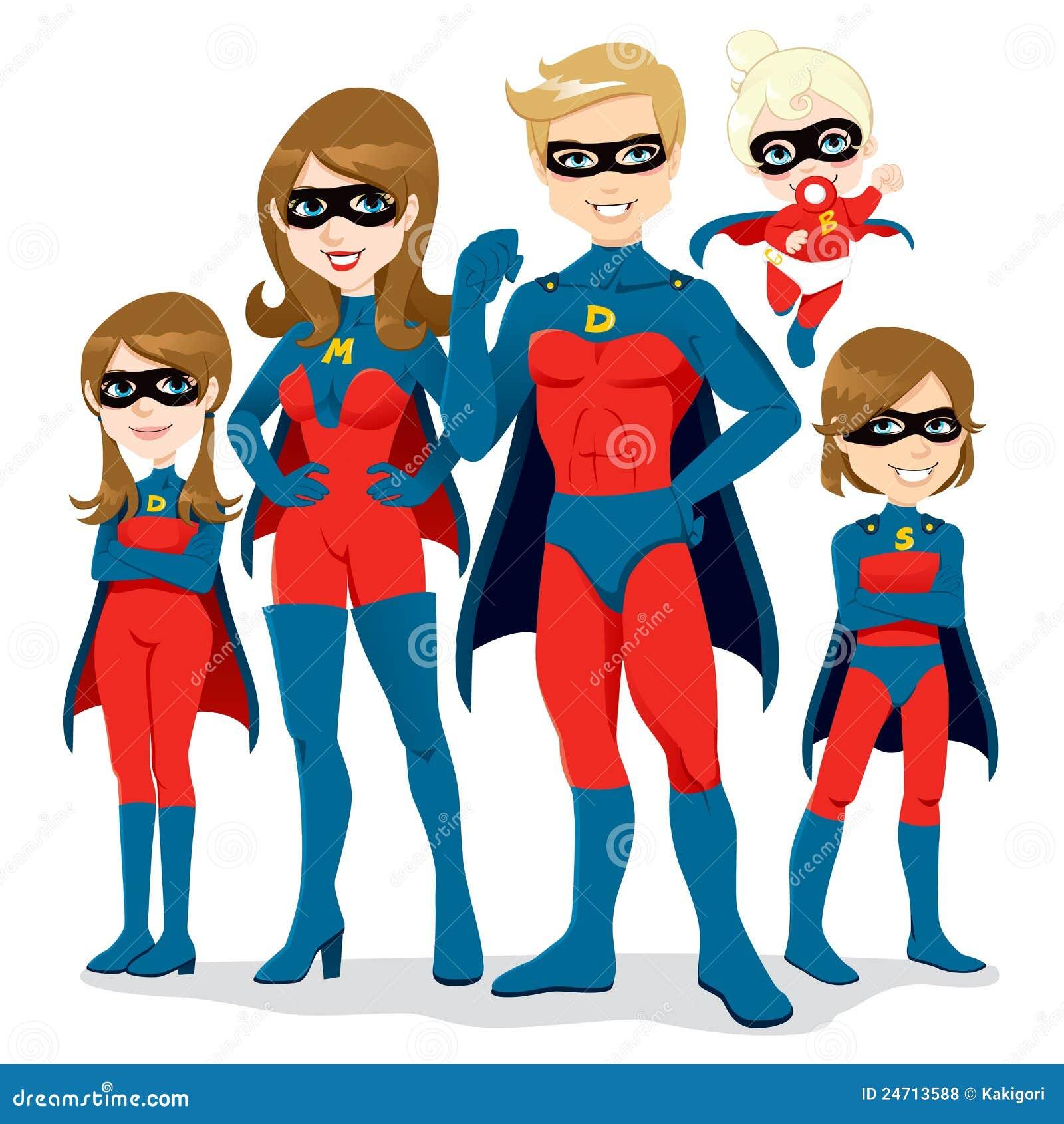 Kostiumowy rodzinny bohater