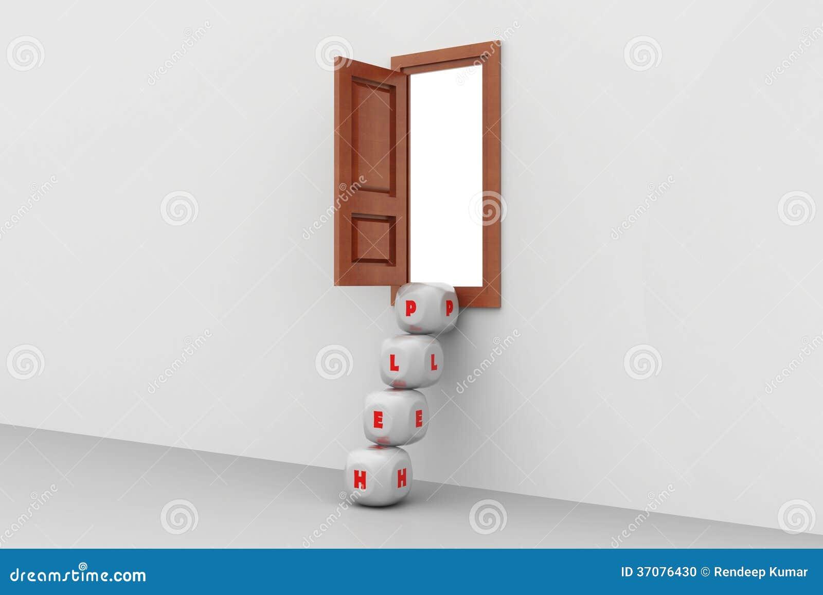 Download Kostka Do Gry Kroki I Otwarte Okno, Pomocy Pojęcie Ilustracji - Ilustracja złożonej z dice, tło: 37076430