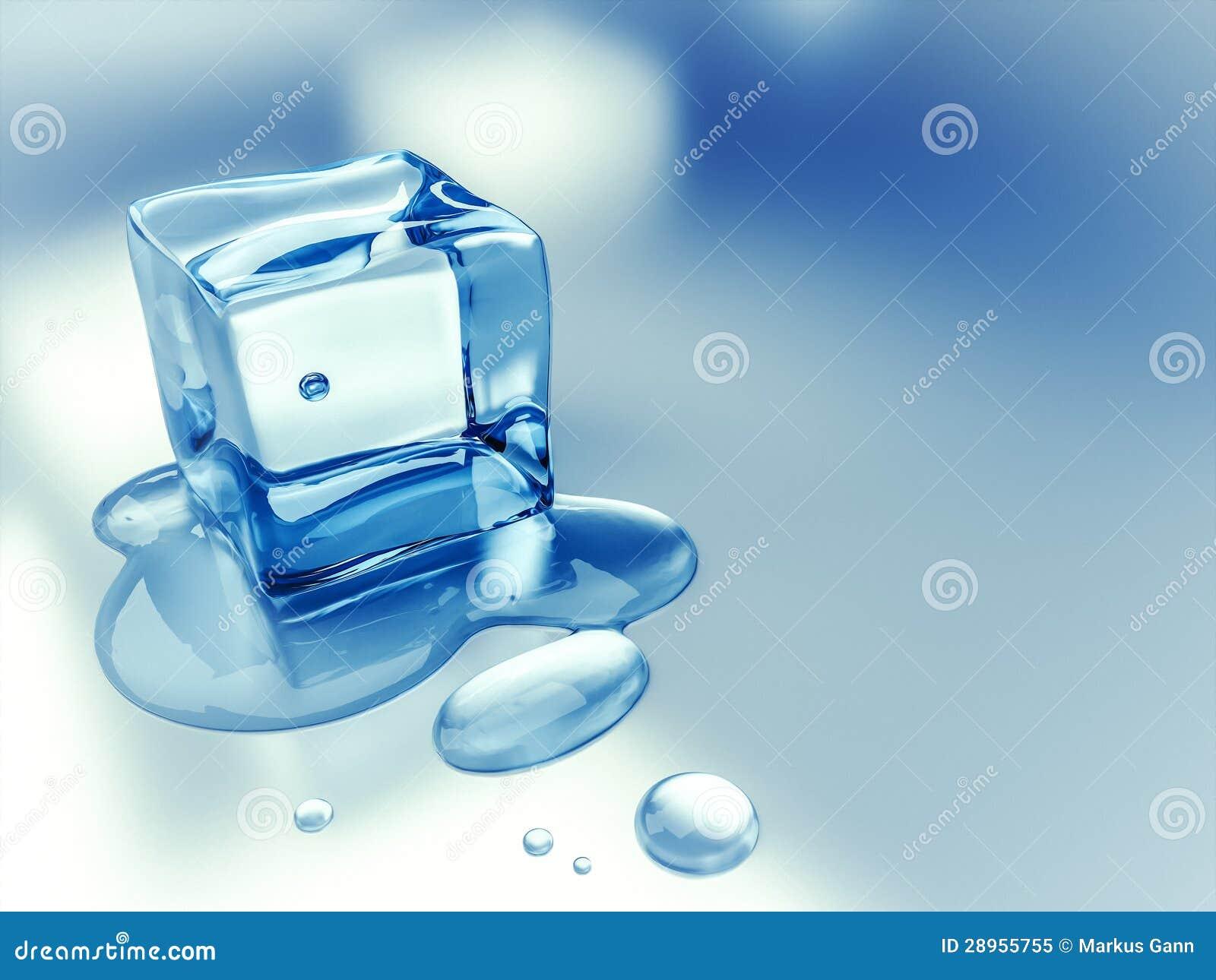 Kostki lodu tło