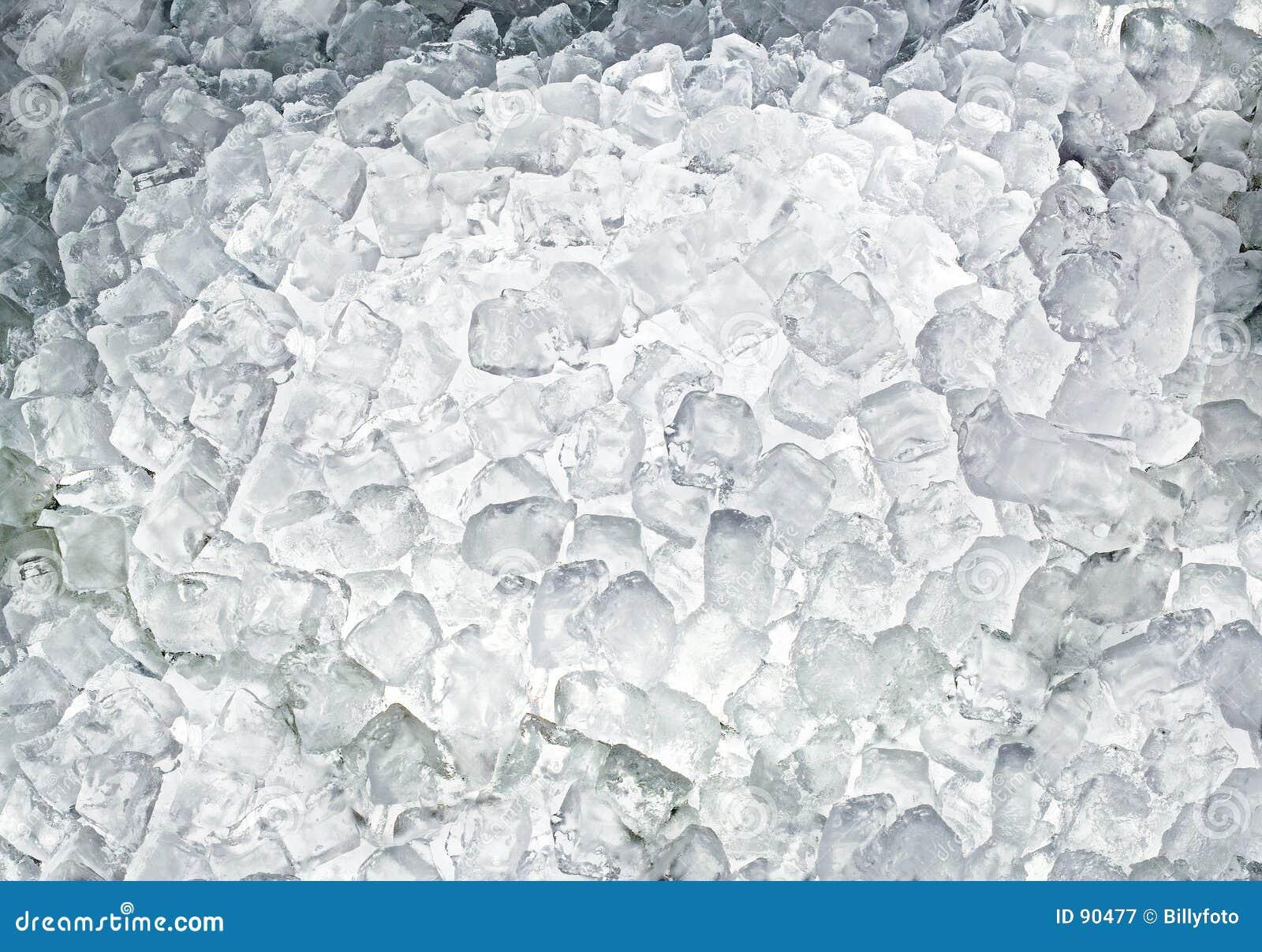 Kostki lodu z powrotem światło