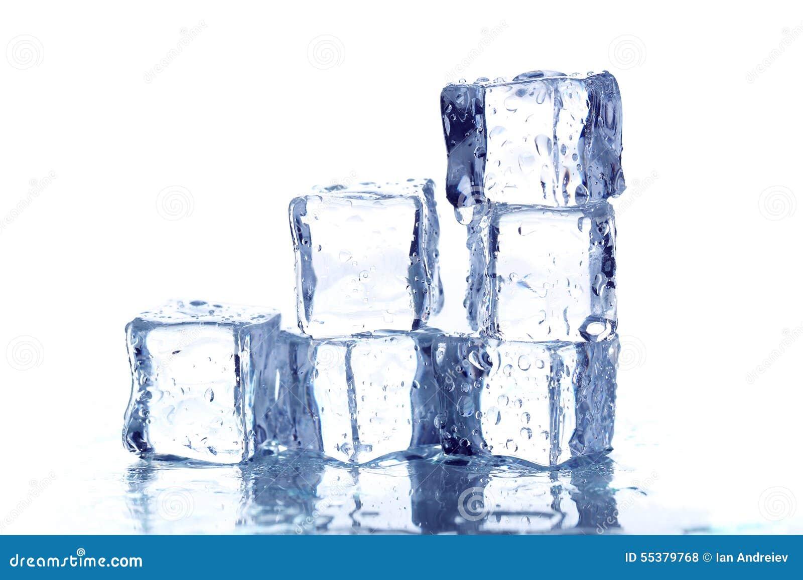 Kostki podobszaru ices topnienia