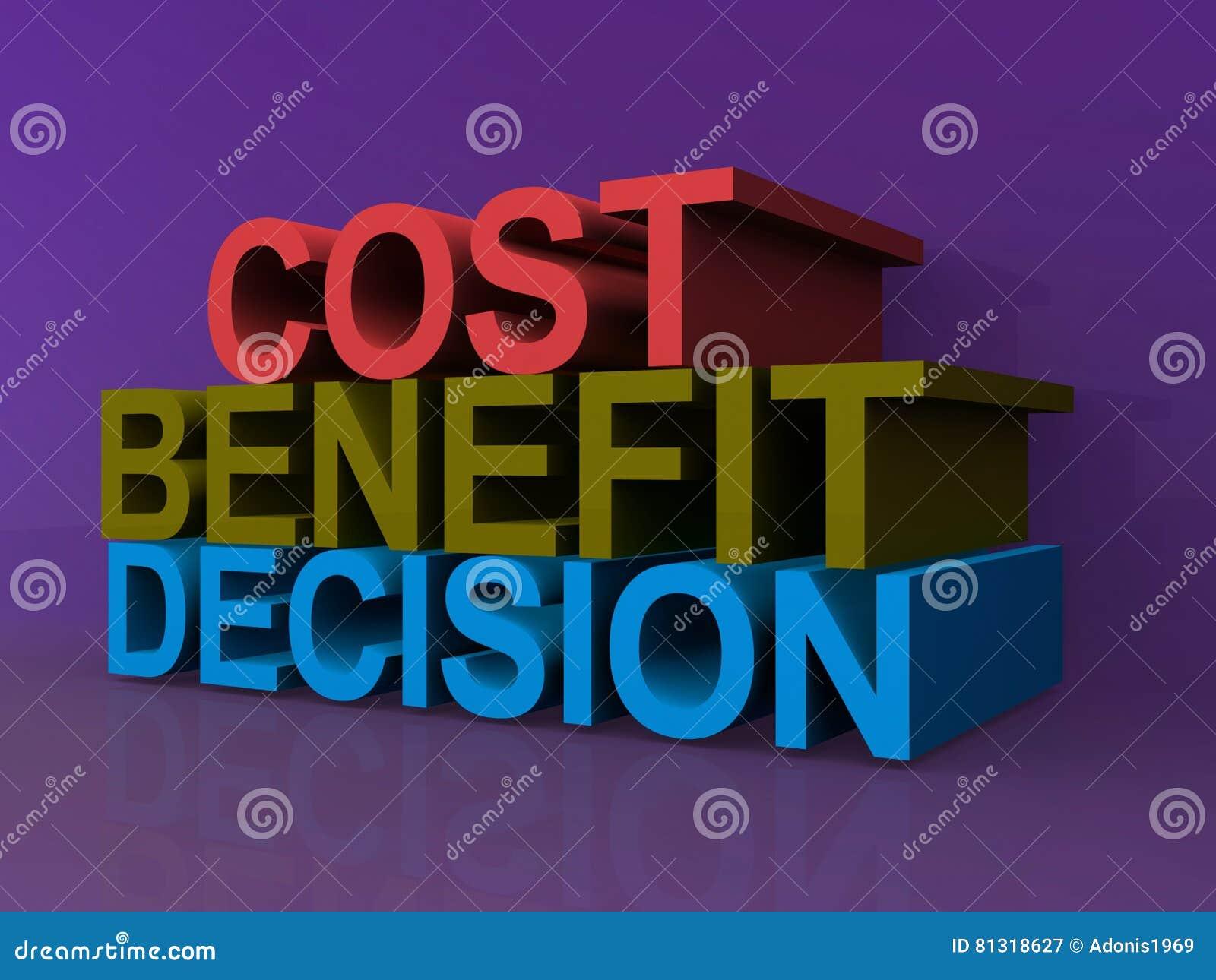 Kostnad fördel, beslut