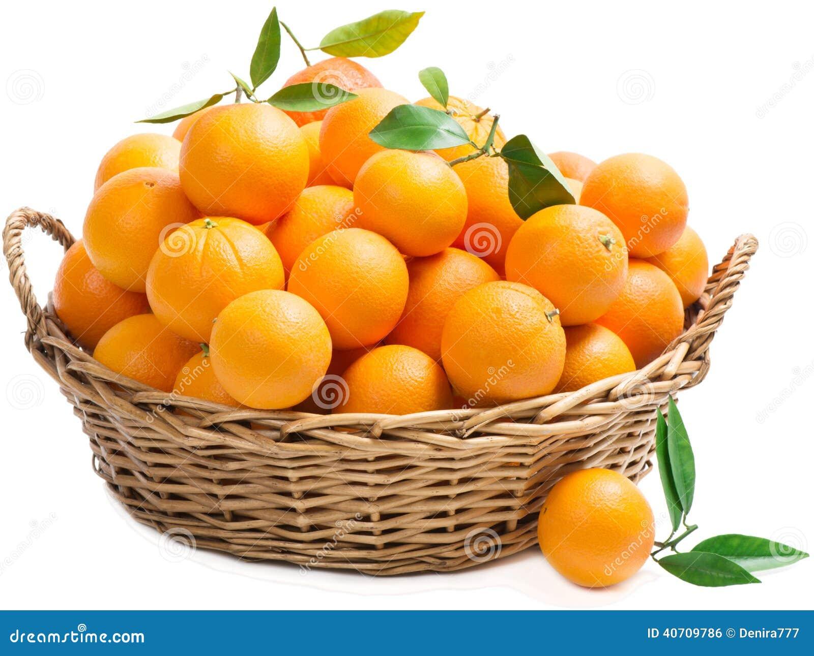 Kosz z pomarańczami
